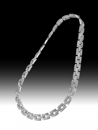 Collier Diamants / Or Gris