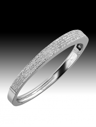 Bracelet Diamants / Or Gris